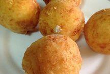 albóndigas de patatas rellenas