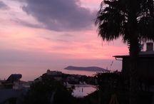 Sunset / Yaz boyunca balkondan günbatımı