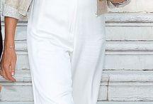 Pantalones anchos.