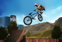 BMX Cartoon Game Concept Art / BMX Cartoon Art from games.