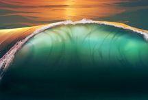 nádherné vlny z vody.