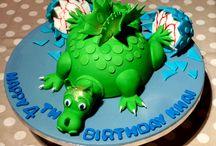 Khai's 4th birthday dragon cake  / Khai's 4th birthday dragon cake