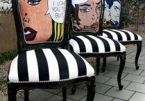 Trekke om stol