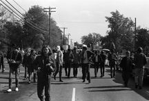 National Moratorium Against Vietnam War / The following images depict students at Kent State University participating in the National Moratorium Against the Vietnam War on October 15, 1969. The Images are from the Lafayette Tolliver Collection, which includes photographs of black student life and the anti-war movement.