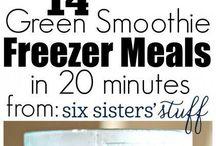 Green Smoothie Freezer meals