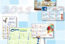 Calendarios de PVC / Artículos promocionales impresos en plástico P.V.C. con la más alta calidad. Amplia variedad medidas y calibres.