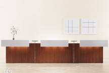 Reception Counters / Reception desks feature standard forty-two inch height and transaction counter tops. The counter tops are available laminated or in wood veneer. We also offer wood #veneer and with elements of glass, stone and metal to give you any #custom look..