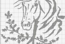 Cross stitch - horses