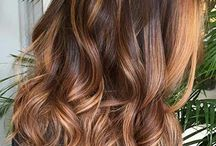balayage long brunette