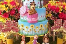 Ideas Decoración de fiesta de Cumpleaños Masha y el Oso