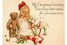 Vintage art / Old fashioned greeting cards