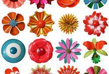 funky flower shapes
