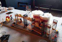 COMIDA DE EMPRESA ANDAMIOS PLÁCIDO , GAMIFICACIÓN / Centros de mesa gamificados para la comida de navidad de la empresa Andamios que trabaja codo a codo con Repsol. Los centros llevaban un juego que hizo que