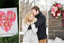 Valentine's Snow Engagement Shoot