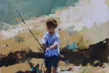 gutt som fisker