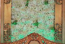 reception flowerwall decor