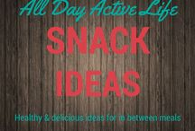 Snack Ideas: Healthy ideas for between meals / Snacking can be a great tool to keep cravings at bay.  The key is to pick healthy, filling snacks that are easy to create and easy to make ahead.