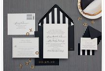 Inspiration   Black and white wedding / Taupes, creams, whites and stripes