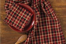 Pattern: Abbott / Abbott Coordinates by Park Designs combine deep, rich cranberry, basic black and touches of gold in a rich vibrant combination, perfect for a country farmhouse kitchen. / by Piper Classics
