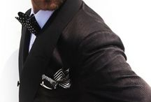 suit & tie & bow tie