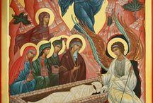 Мироноснице на Христовом гробу