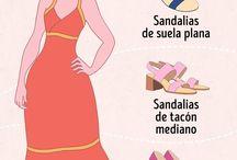 como elegir zapatos de acuerdo al vestido