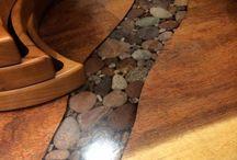 Tisch Holz-Epoxidharz