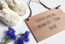 Gooseberry Fool wooden gifts / Personalised wooden gifts for babies and children