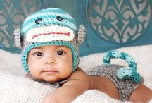 baby knit hats / infant hats / by Phyllis Wells Meade