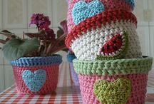 macetas revestidas al crochet