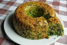 Budín de arroz integral y espinacas