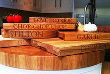 Collins Bespoke - Accessories / To complement the beautiful designs by Collins Bespoke, we offer hand-made and personalised accessories for your kitchen and home. Choose from chopping blocks, cheese boards, wine stands, key holders, boot holders and more.