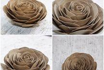 róże z papieru toaletowego