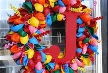 Balloon Wreath ideas found on Pinterest