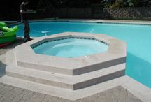 Enjoying the Pool and Patio. / Beautiful features for your favorite outdoor spot.