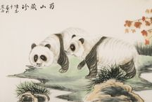 Chinese Panda paintings / Chinese Panda paintings from CNArtGallery.com http://www.cnartgallery.com/92-chinese-panda-paintings