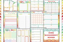 Organizer / Paper sheets for organizing