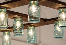 Mason Jar Light Fixtures / Our next home improvement project. The wife wants to replace some fixtures with mason jar lighting. These are examples and inspirations.