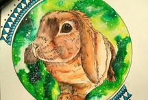 Galaxy Animals / My own paints, topic - Galaxy Animals. All avalaible on prints!