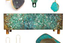 Turquoise blue & green & all shades of...