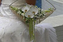 Not a hand tied..modern bridal flowers