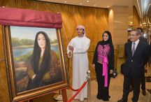 Samar Arts Exhibition - Abu Dhabi / Sheikh Zayed Bin Suroor Al Nahyan inaugurated the prestigious 'Samar Arts' exhibition at 'AVENUE AT ETIHAD TOWERS,' Abu Dhabi's first standalone high-end luxury shopping destination.  The impressive oil, water and acrylics pieces from celebrated Emirati artist Dr. Samar Al Shamsi will be on exhibit at AVENUE AT ETIHAD TOWERS until 7th August 2013.