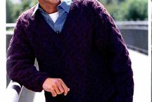 Hand Knit V-Neck Sweaters