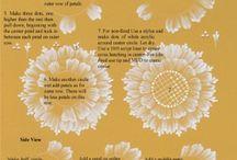 Ručně malované květy 3D efekt