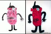 children softie / Soft, colorful toy made by children drawing. Your child can design its own softie.  Przytulanka zaprojektowana przez Twoje dziecko, dokladnie taka jak na rysunku.