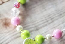 Kid Candy Bubblegum Necklaces by Blue Tree Designs / Cute and fun necklaces for your little fashionista  Check out their store http://www.etsy.com/shop/BlueTreeDesignsByBMP / by Bobbie Machalka Photography