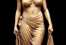 antik kadın heykeli