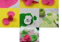 fondant rózsa