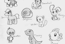 Pinturas y dibujos / Figuras a copiar