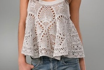 Crochet tops, skirts and shorts